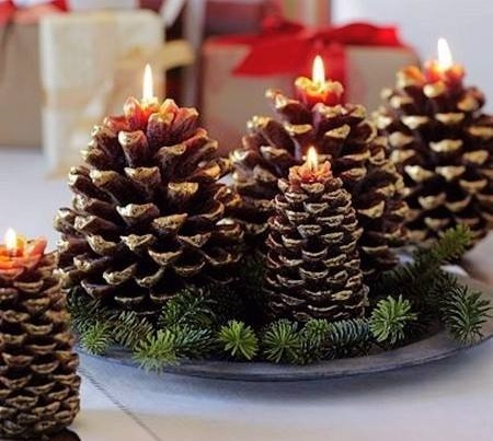 Pine-Cone Candle Holder Is An Easy Way To Decorate Your Home