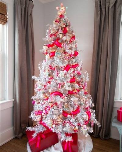 Pink Star War Theme Christmas Tree Decor