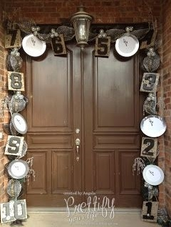 Ravishing Countdown New Year Door Decor