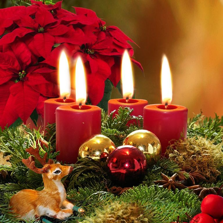 Rocking Candles, Flowers, Ornaments And Wooden Toys