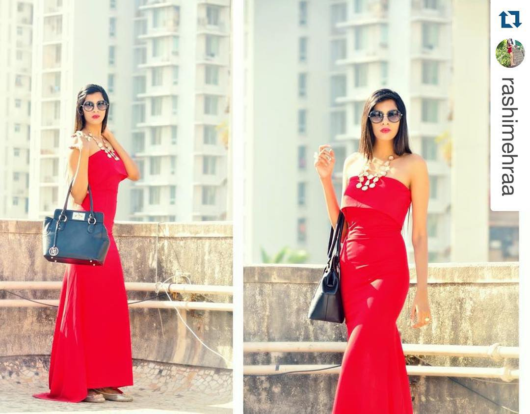 Rocking Red Off The Shoulder Evening Party Gown