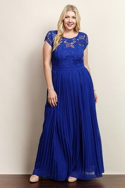 Royal Blue Party Gown For Plus Size