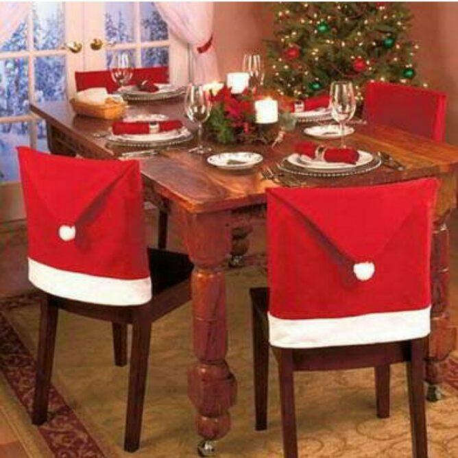 Santa Claus Chair Covers Idea