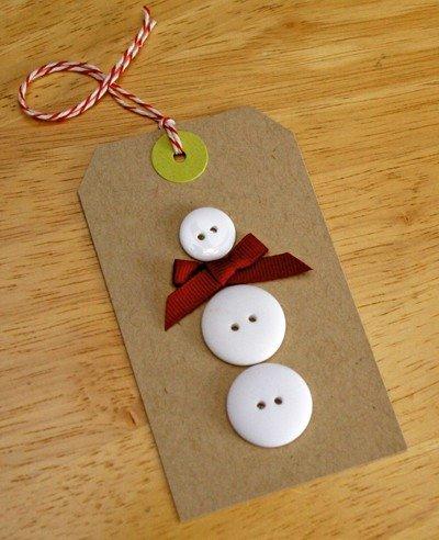 Simple Button Snowman