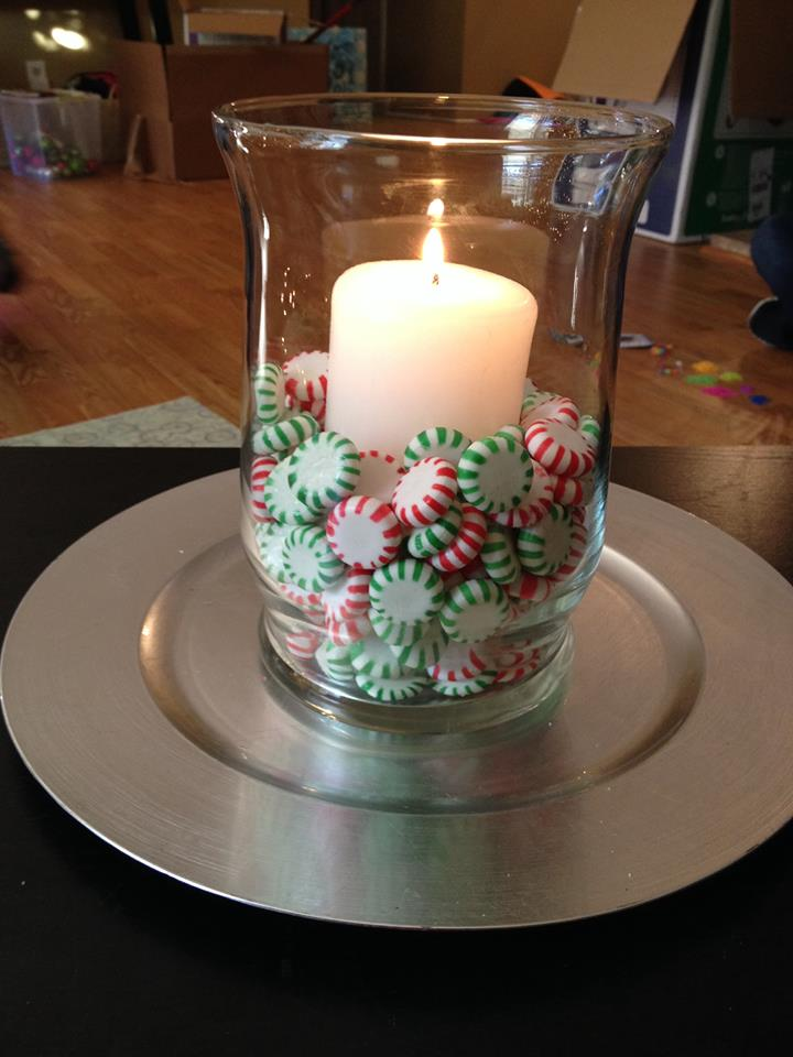 Simple Way To Decorate Cadles With Peppermints