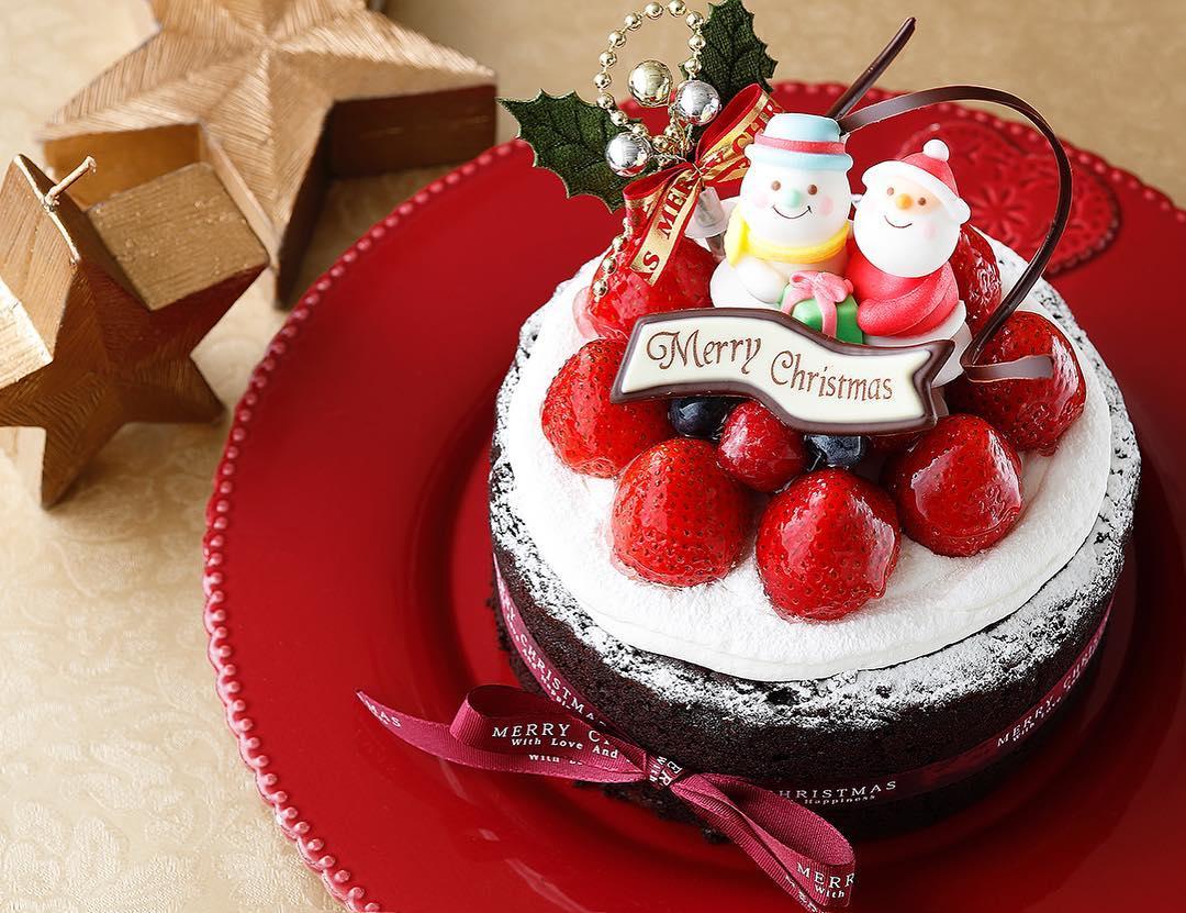Strawberry Couple Christmas Cake Deoration