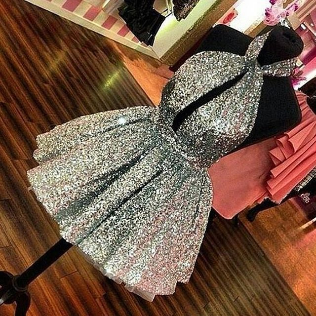 Stunning Silver Glittery Party Outfit Perfect For New Year
