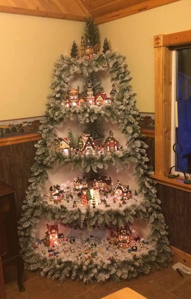 Superb Christmas Villlage Tree Decor