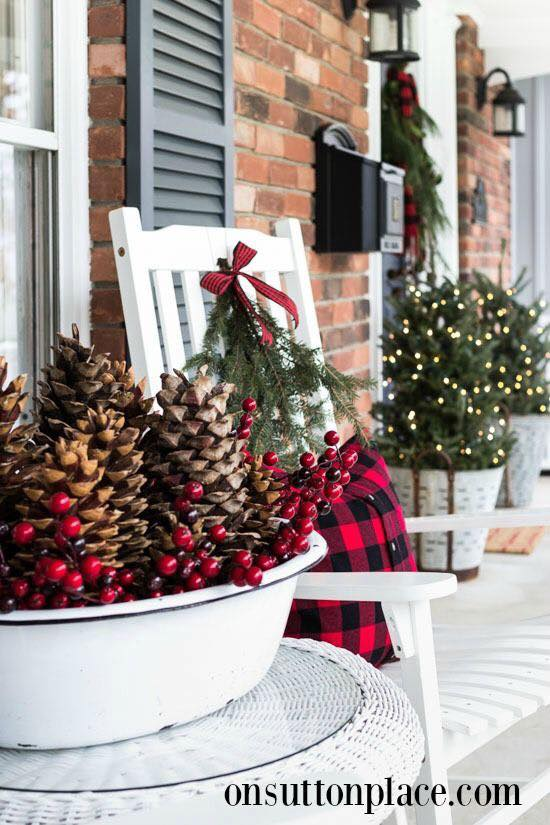 Swanky Front Porch Decor Idea