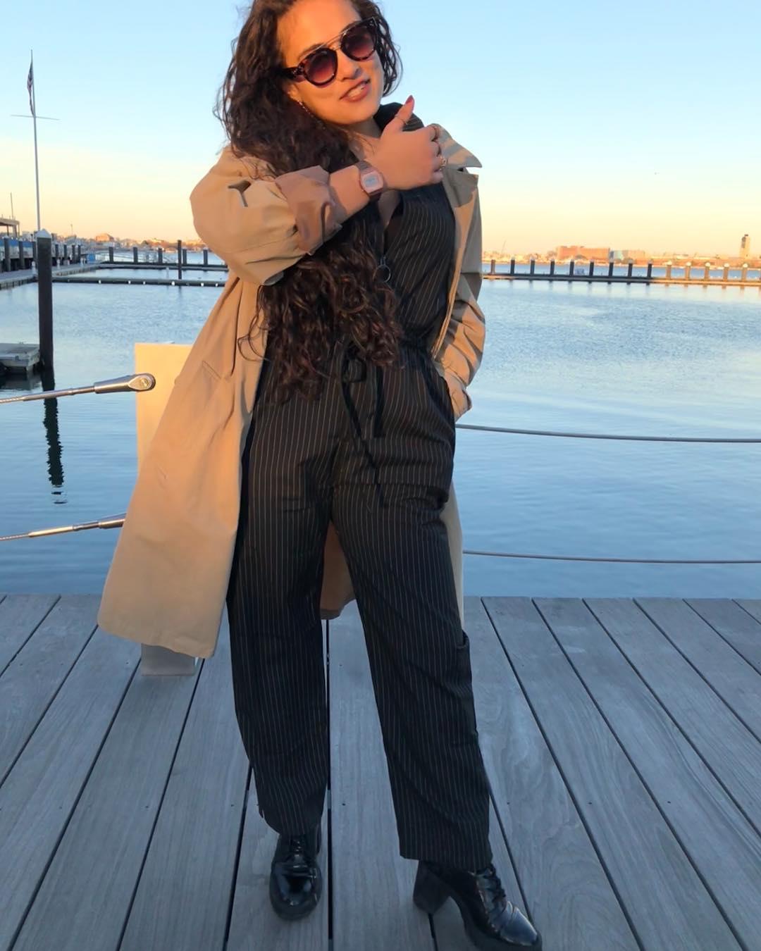 Trendy Jumpsuit With Long Coat