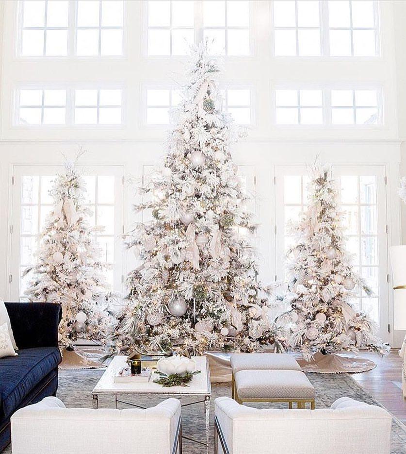 White Tree Decor Is Looking Stunning