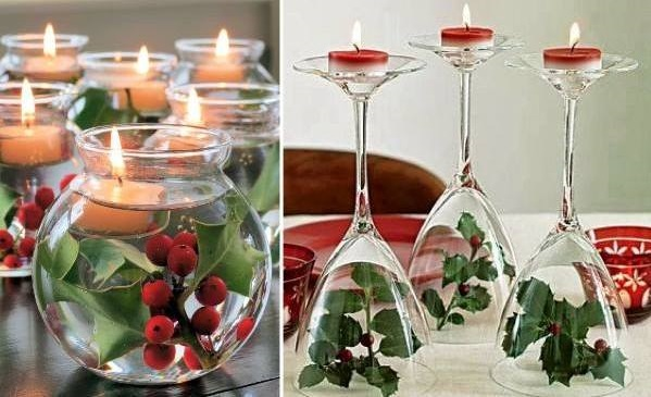 Wine Glasses Used As Candle Holder