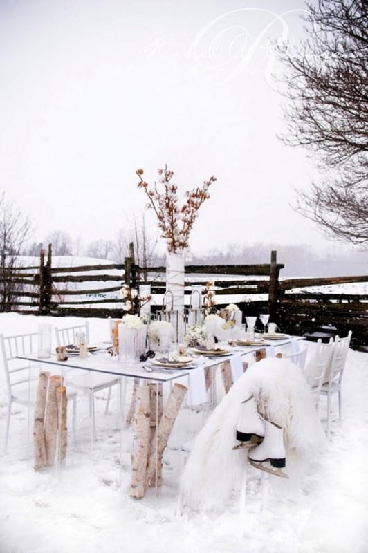 Wonderful Rustic Outdoor Decoration For New Year Eve