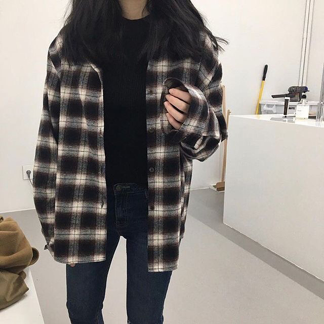 Wonderful Tomboy Style Plaid Shirt With Jeans