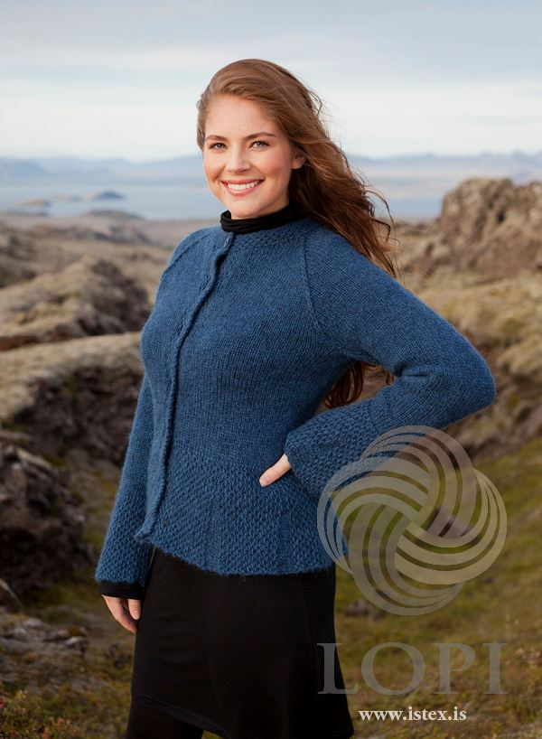Adorable Blue Cardigan Design