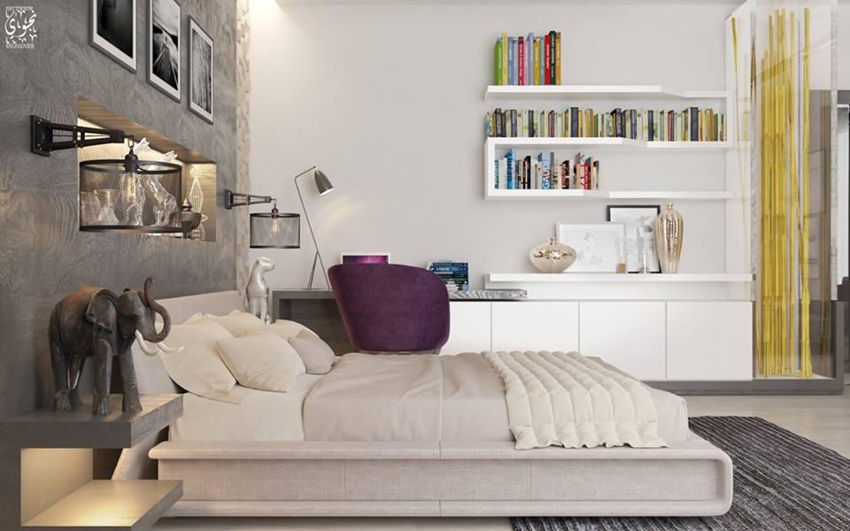 Adorable Contemporary Room Decor For Book Lover
