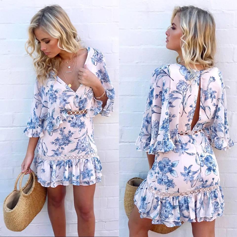 Amazing Pastel Swing Dress For Summer