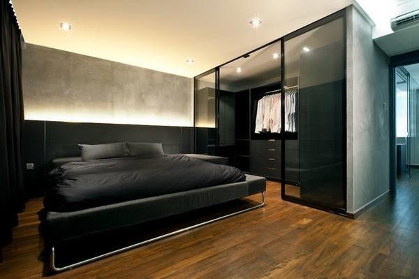 Amazing Wardrobe In Contemporary Bedroom