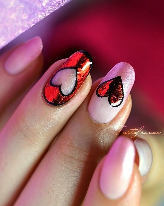 50+ Adorable Valentine\'s Day Nail Art That You Would Love for Sure