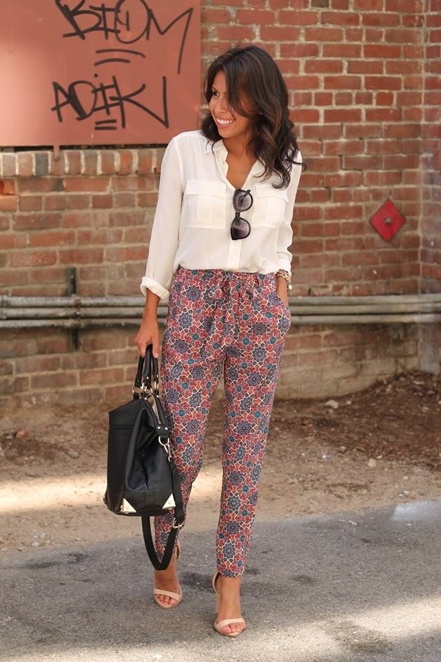 Awesome Button Down Shirt With Boho Pants