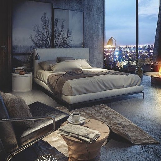 Beautiful Contemporary Bedroom With Natural View