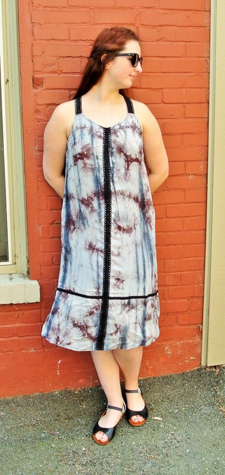 Beautiful Tye-Dye Print T-Strap Outfit For Summer