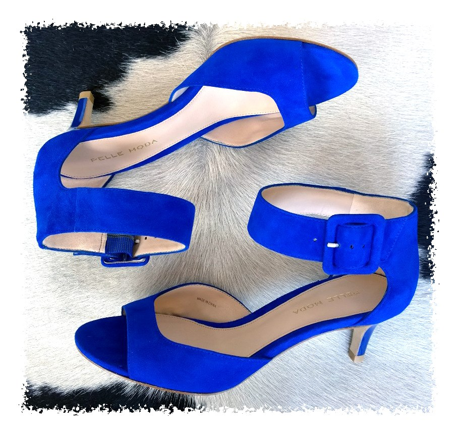 Best Blue Open Toe Ankle Strap Heels