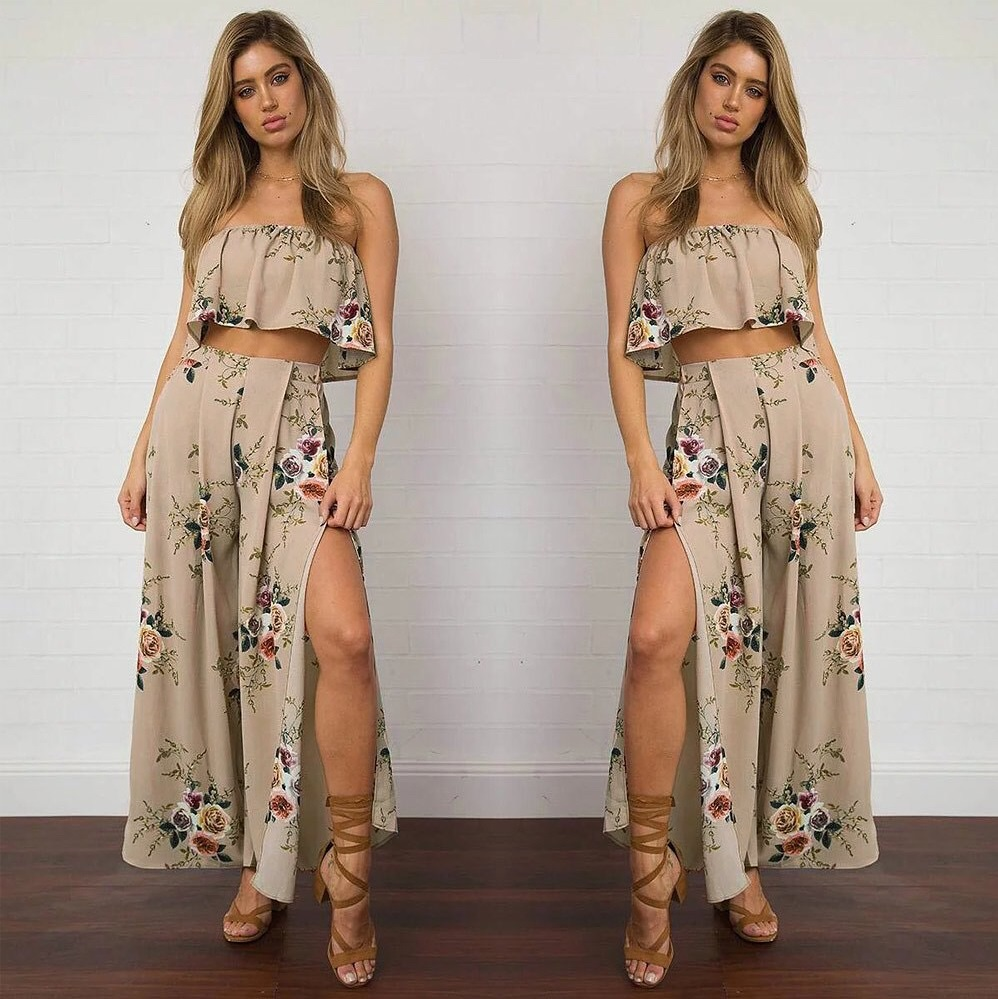 Boho Style Two Piece Summer Outfit