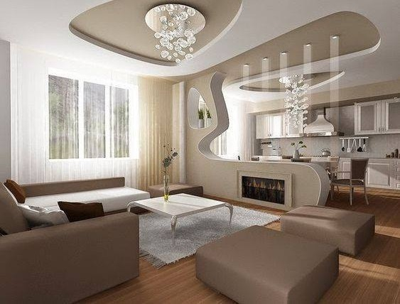 Classic Contemporary Living Room With Beautiful Lights