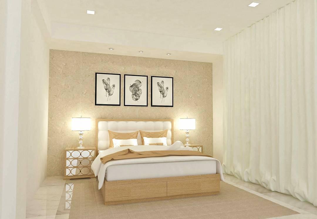 Classy Beige Contemporary Bedroom Interior