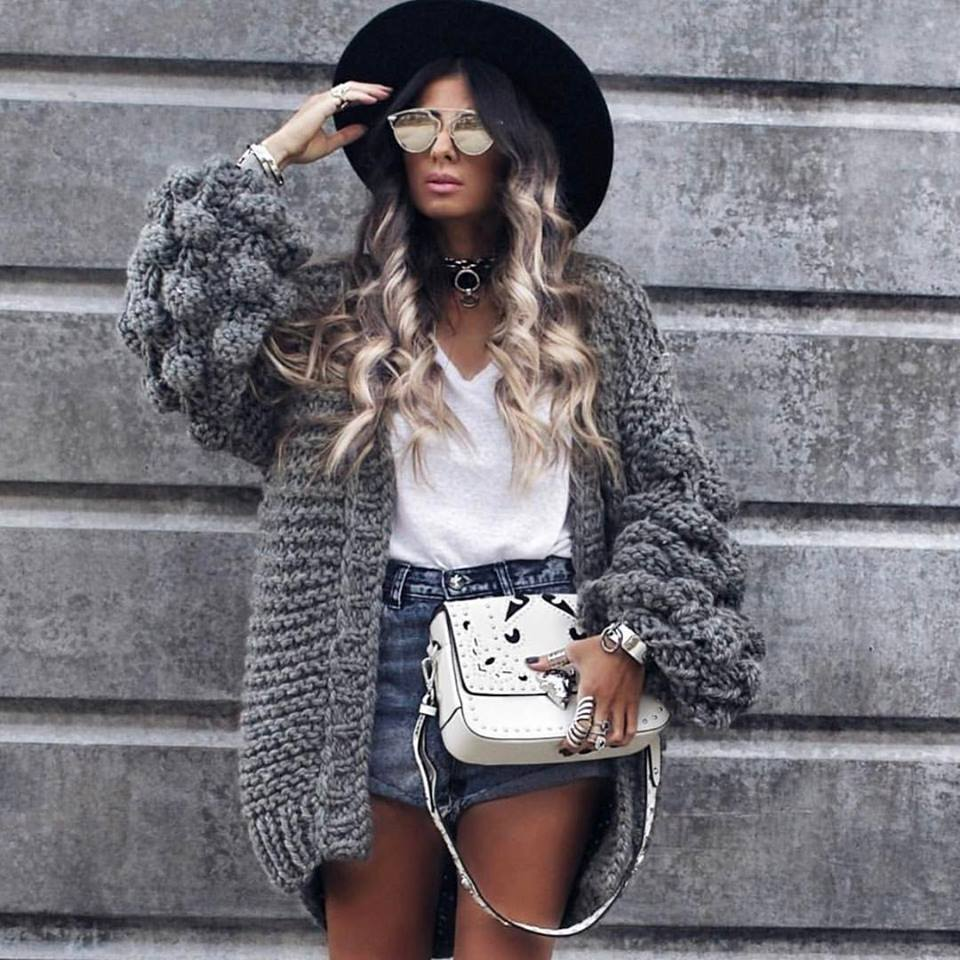 Cool Super Fluffy Knit Cardigan