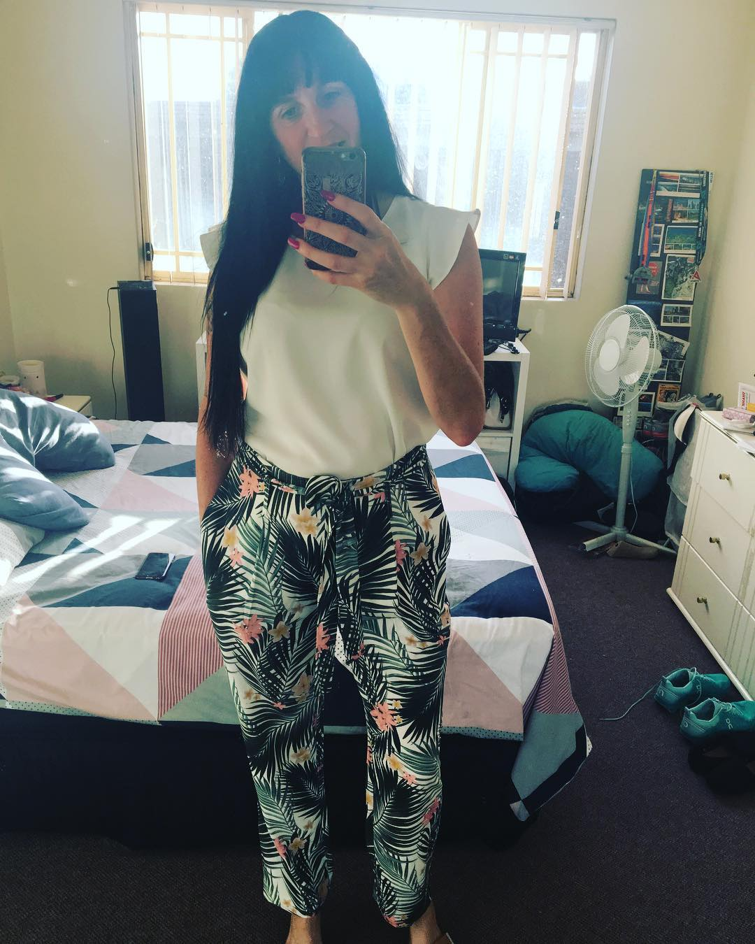 Cute Spring Pant With White Top