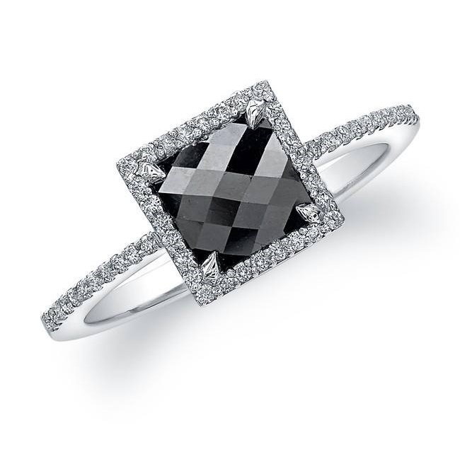 Dashing Rose Cut Square Diamond Ring