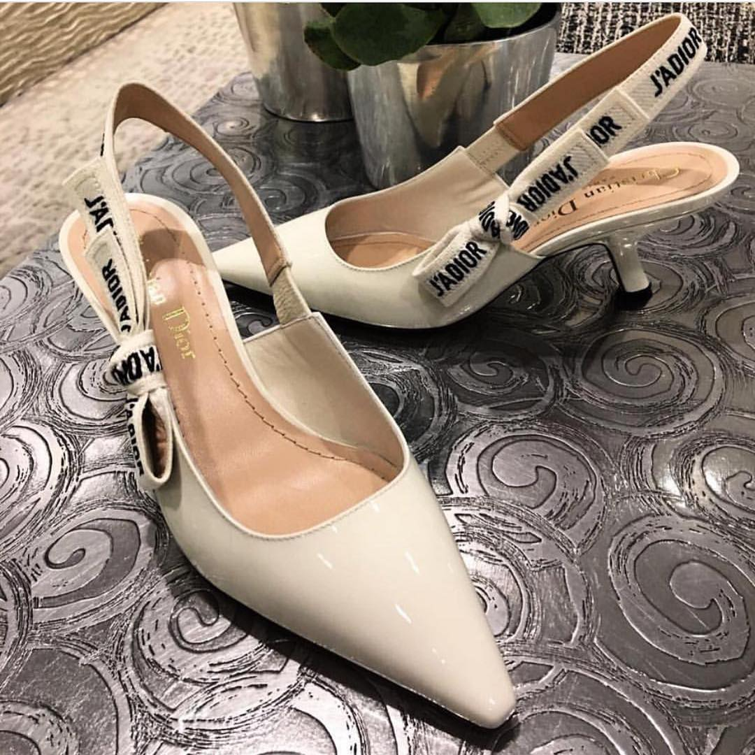 Dashing White Kitten Heels