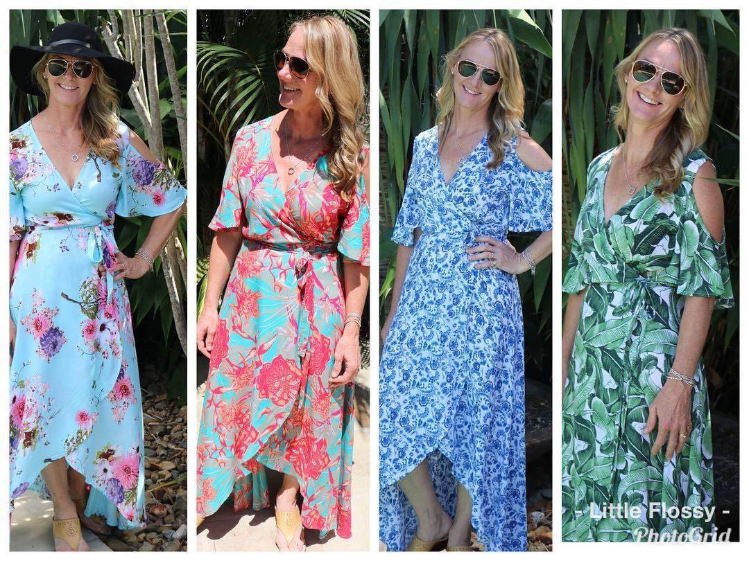 Dazzling Summer Wrap Dresses