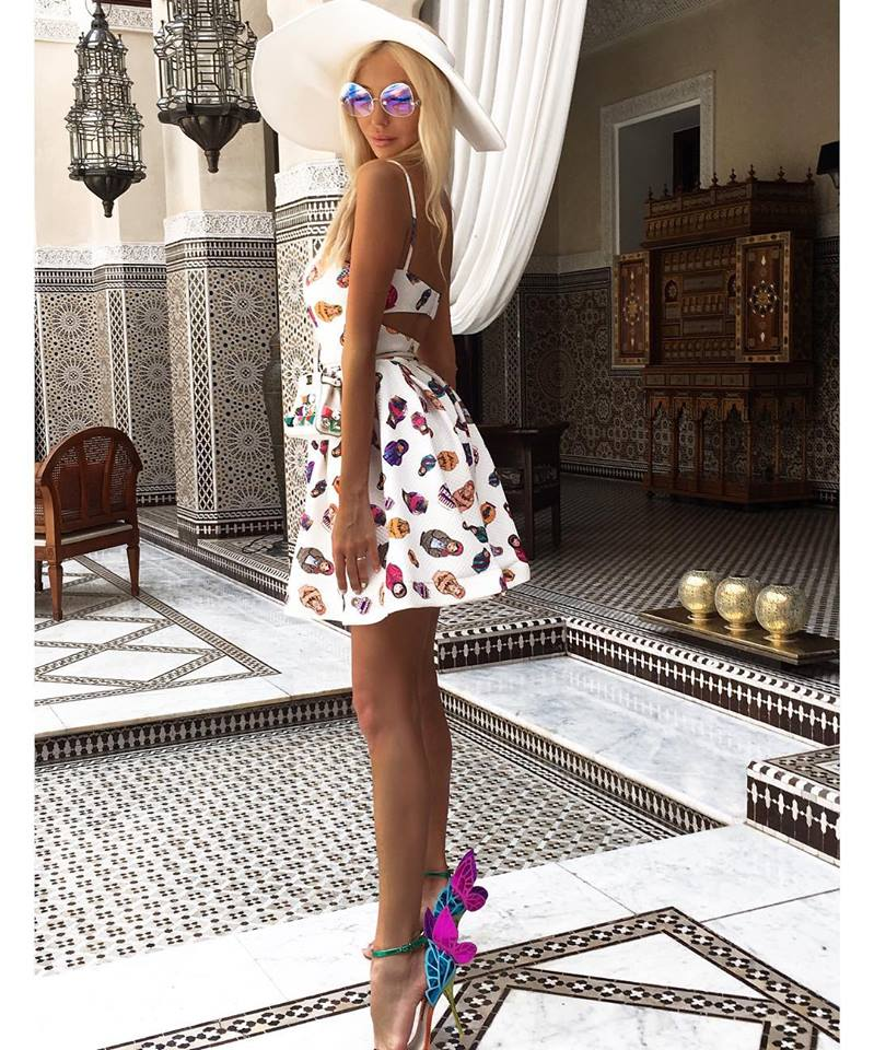Doll Print Summer Outfit