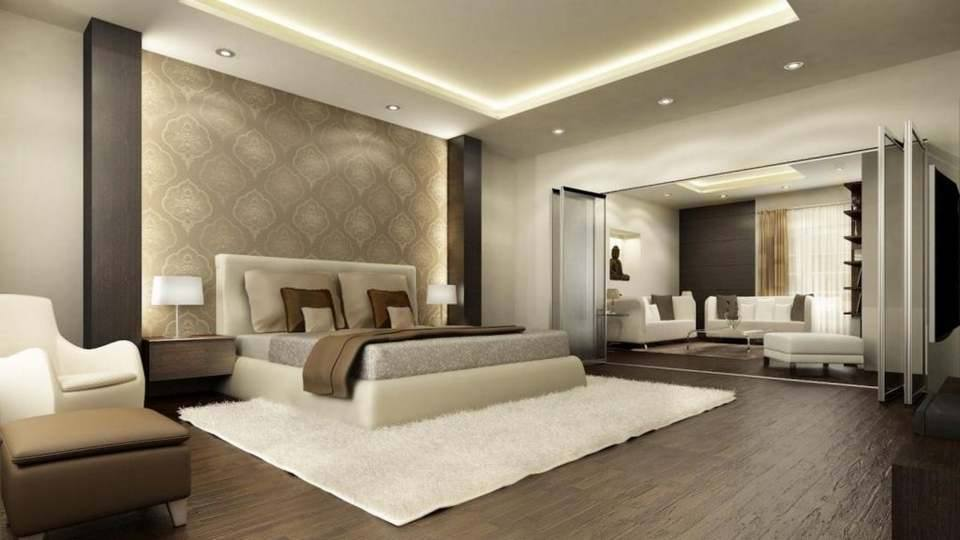 Dreamy Contemporary Bedroom With Hard Wood Floor