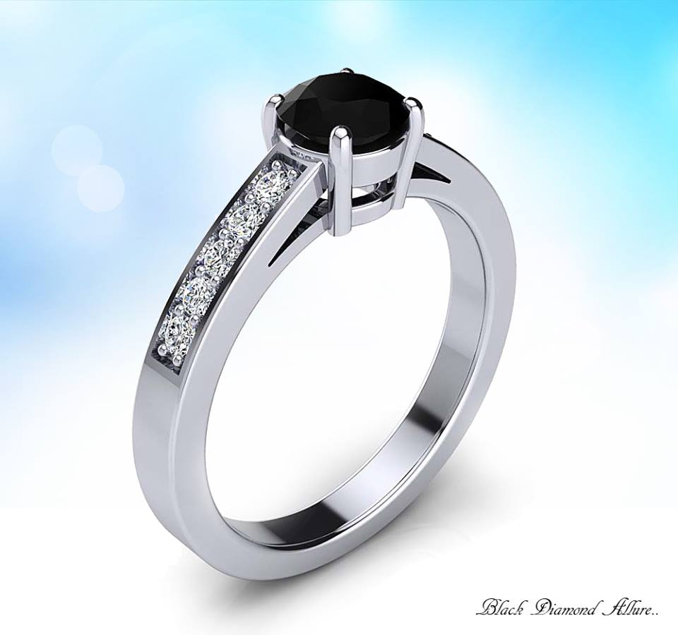 Exclusive Black & White Diamond Ring