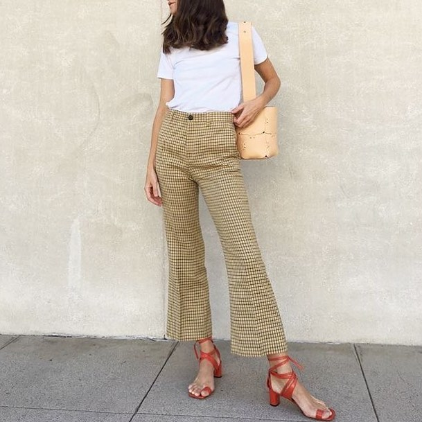 Exclusive Wide Leg pant With White Top
