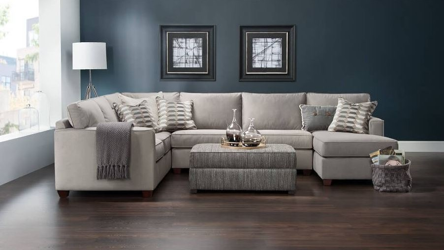 Exquisite Grey Theme Modern Living Room