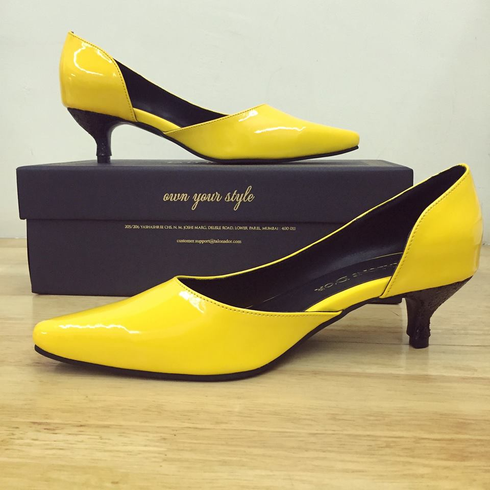 Fabulous yellow Kitten Heels