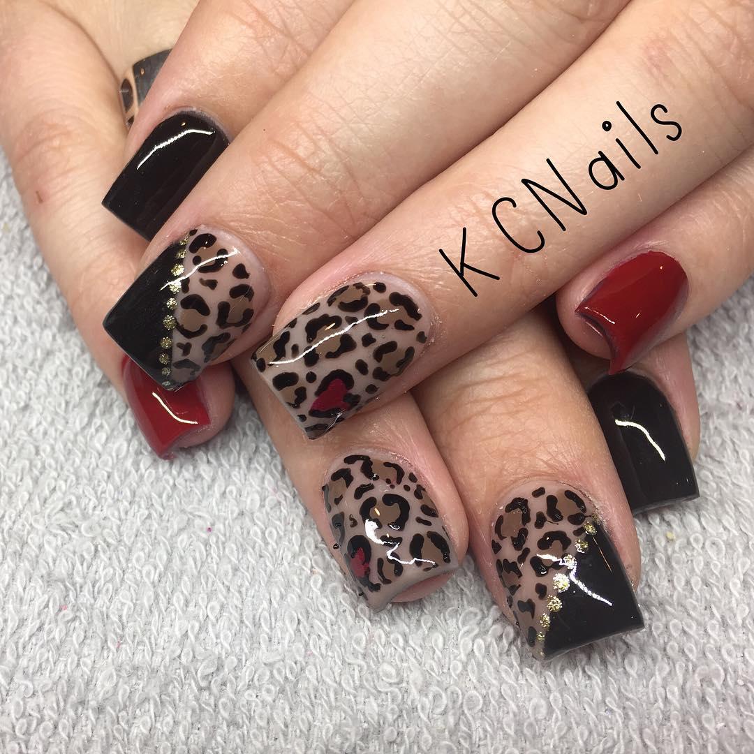 Fancy Leopard Nails Design
