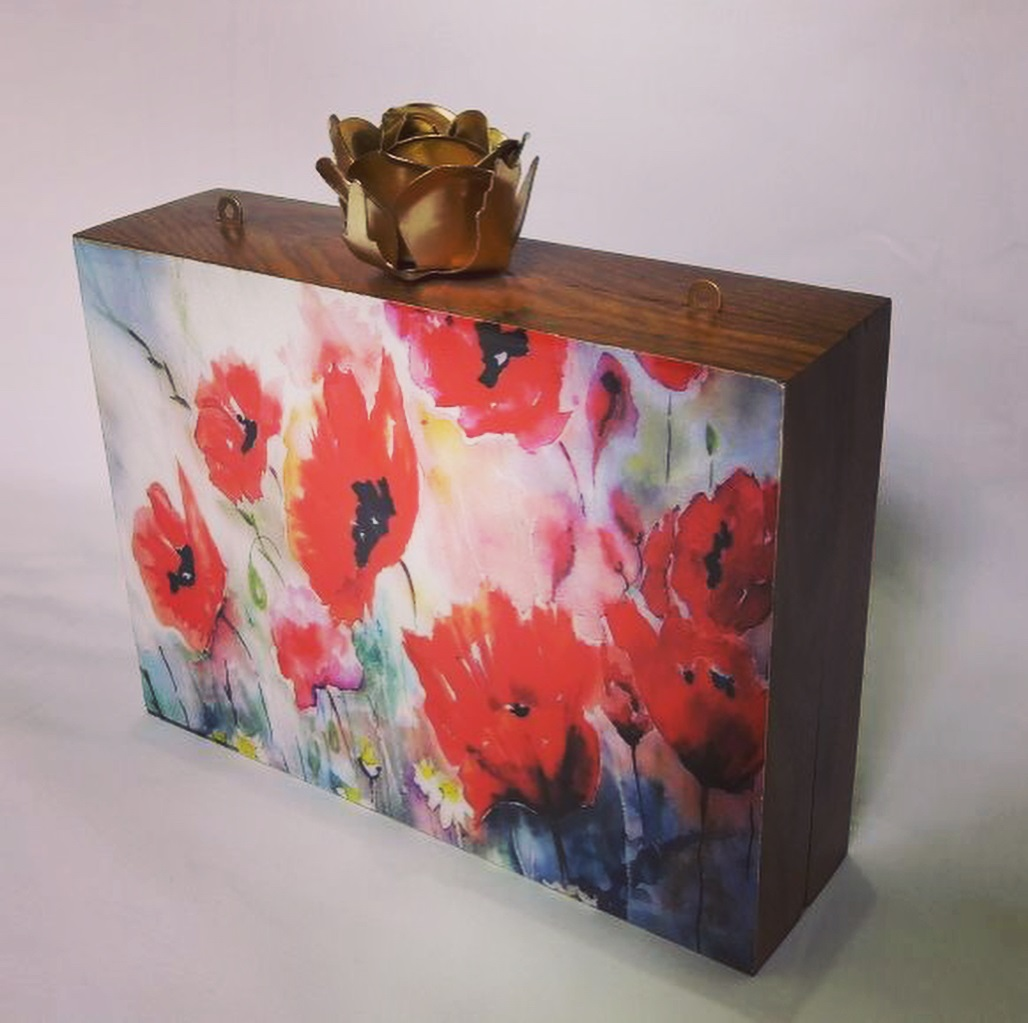 Floral Acrylic Box Style Clutch