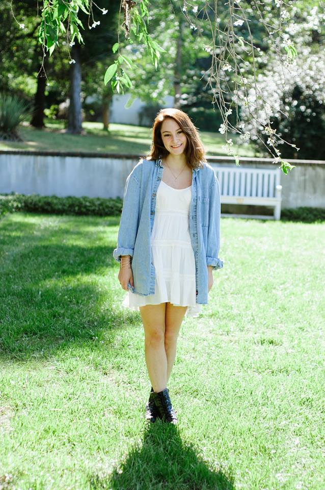 Flowy White Dress, Combat Boots And Denim Shirt Perfect Boho Chic Look