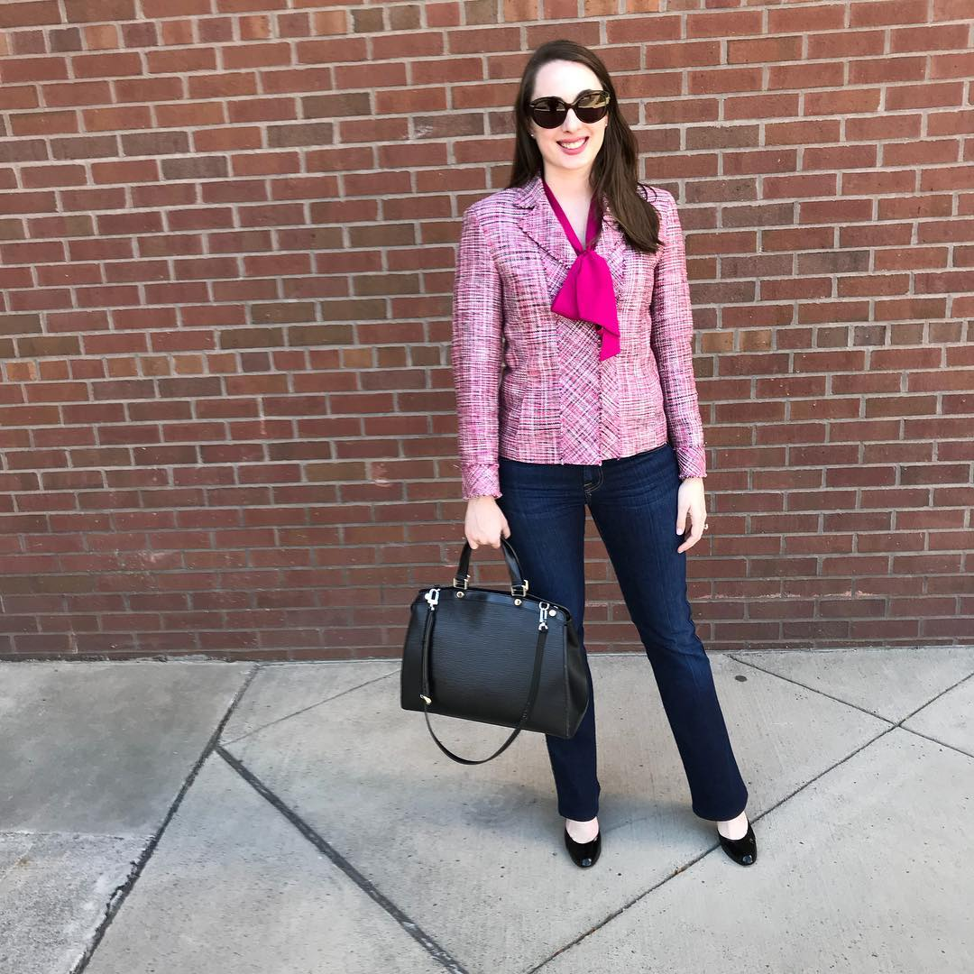 Funky Pink Blazer With Jeans