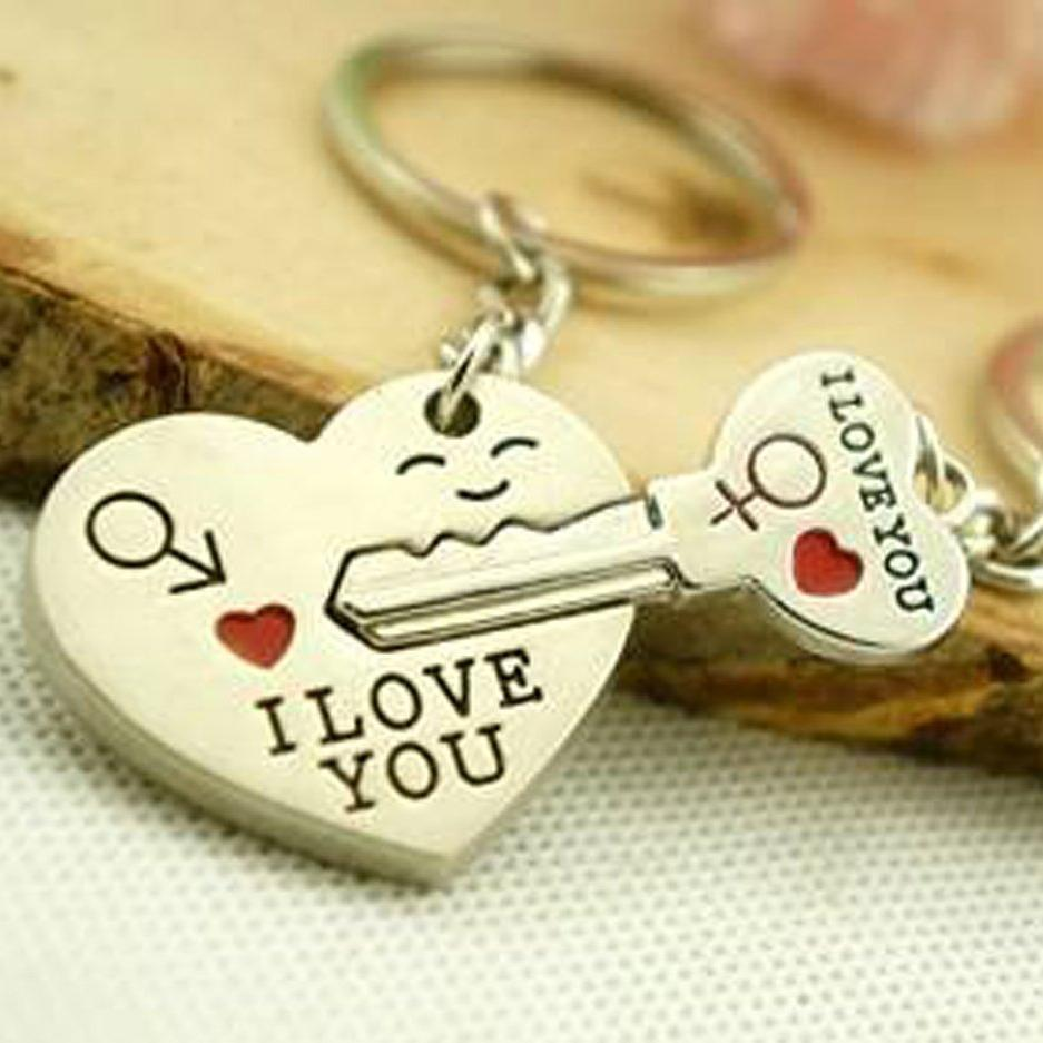 Glamorous Couple Keychain Keyring For Lovers