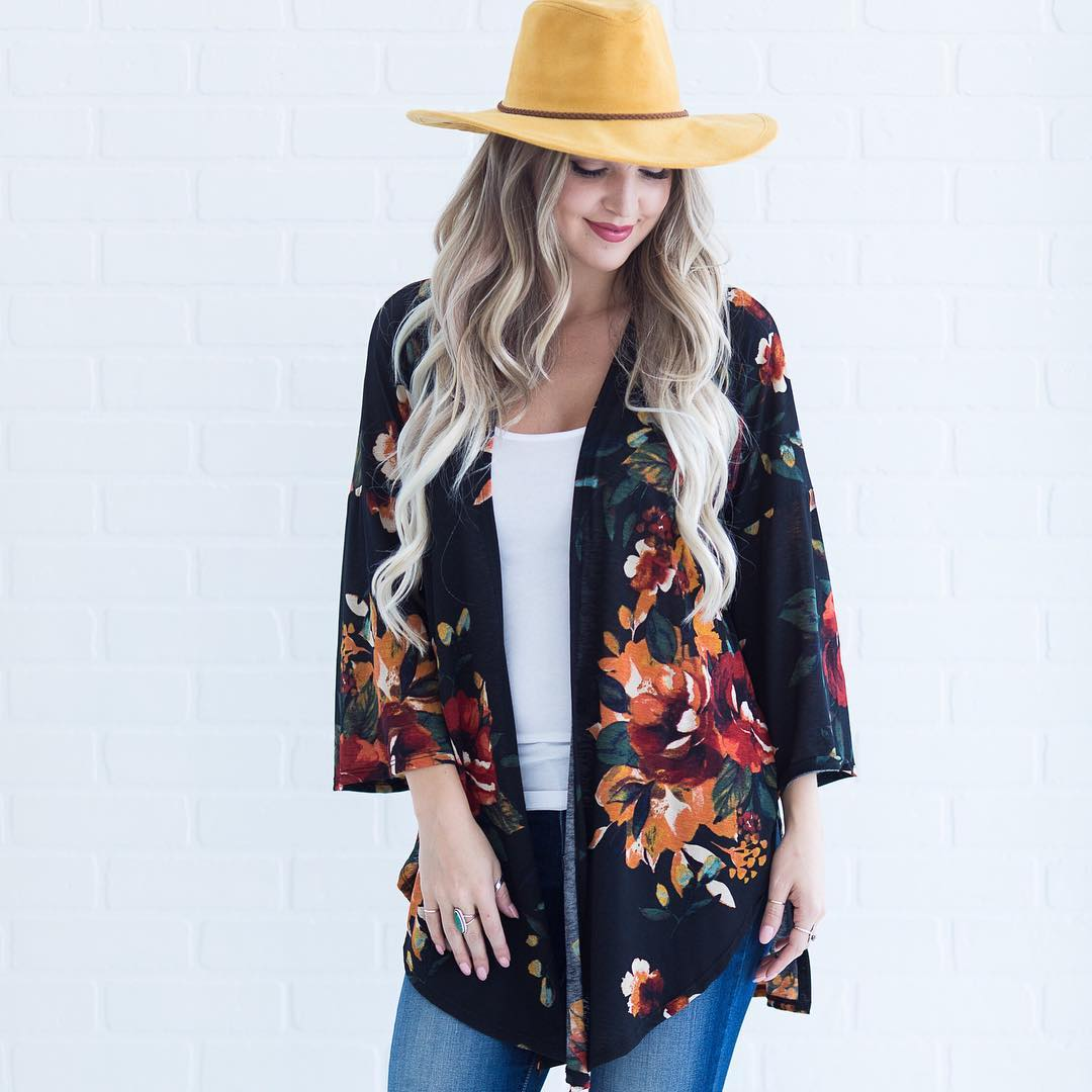 Gorgeous Floral Shrug With Hat