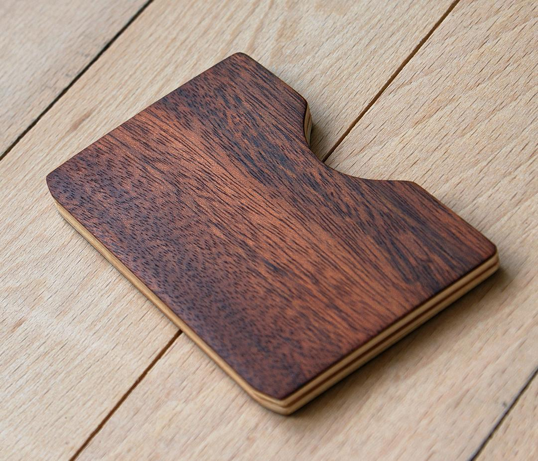 Graceful Rosewood Minimalist Card Holder Wallet