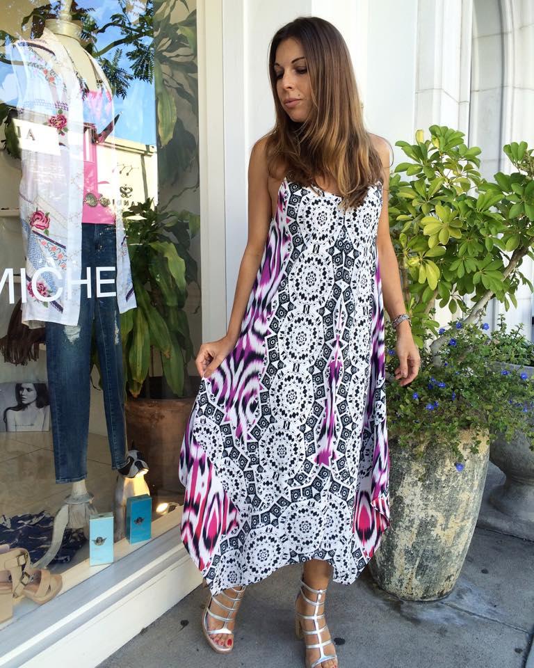 Handkerchief Style Boho Chic Dress