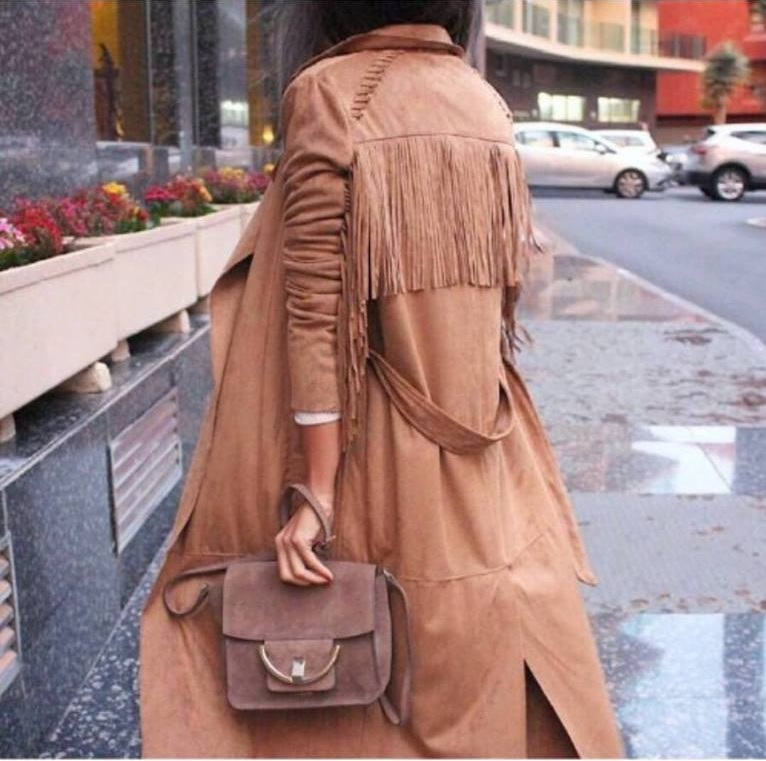 Latest Winter Collection Of Fringes On Coat